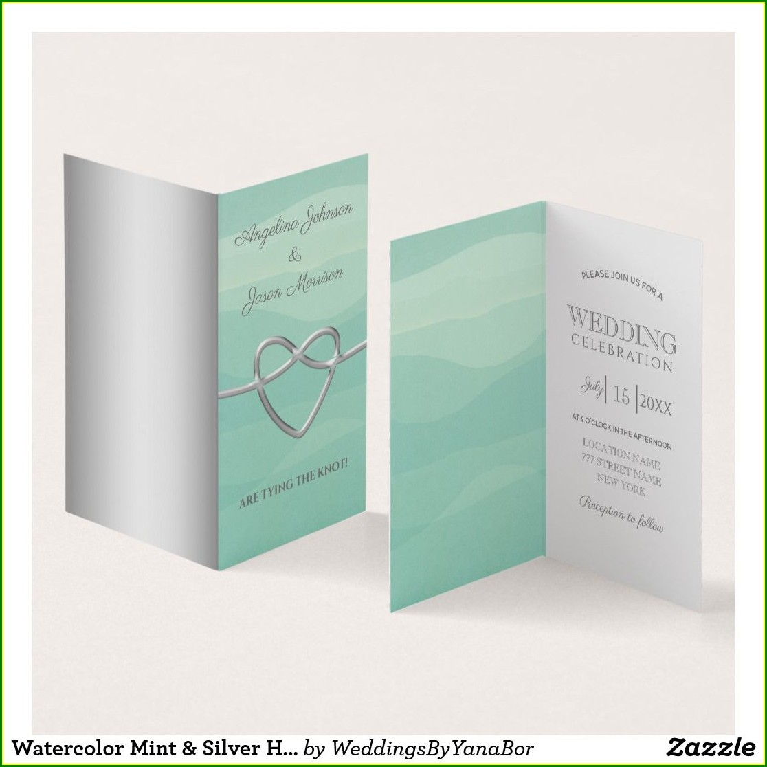 Silver Heart Wedding Invitations