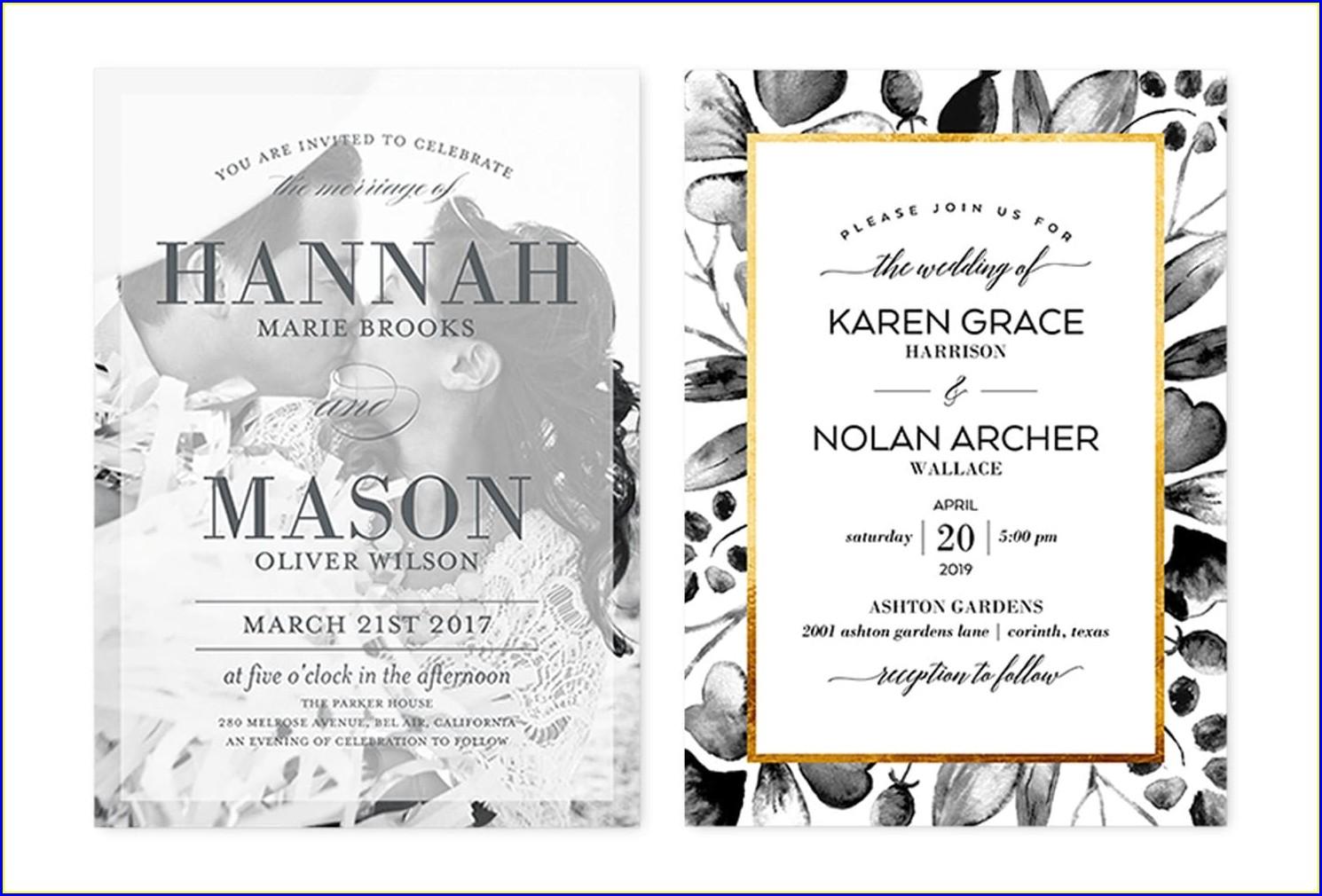 Simple Casual Wedding Invitation Wording Couple Hosting