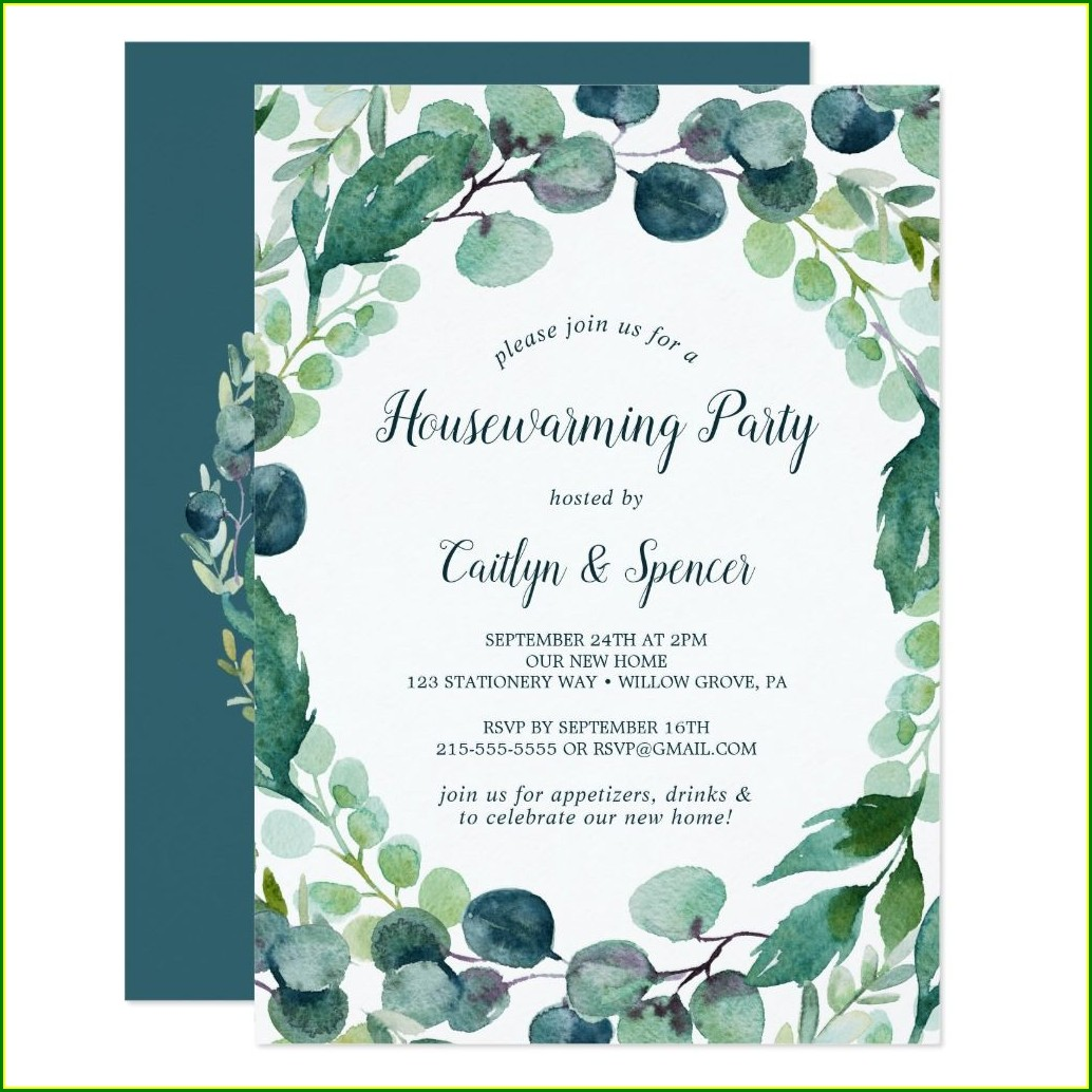 Sip And See Housewarming Invitations