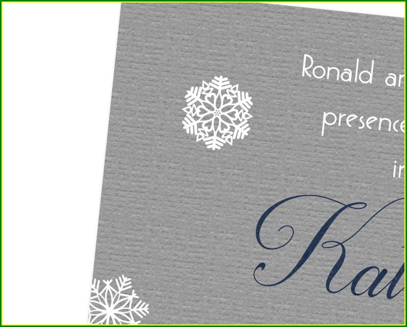 Snowflake Sweet 16 Invitations