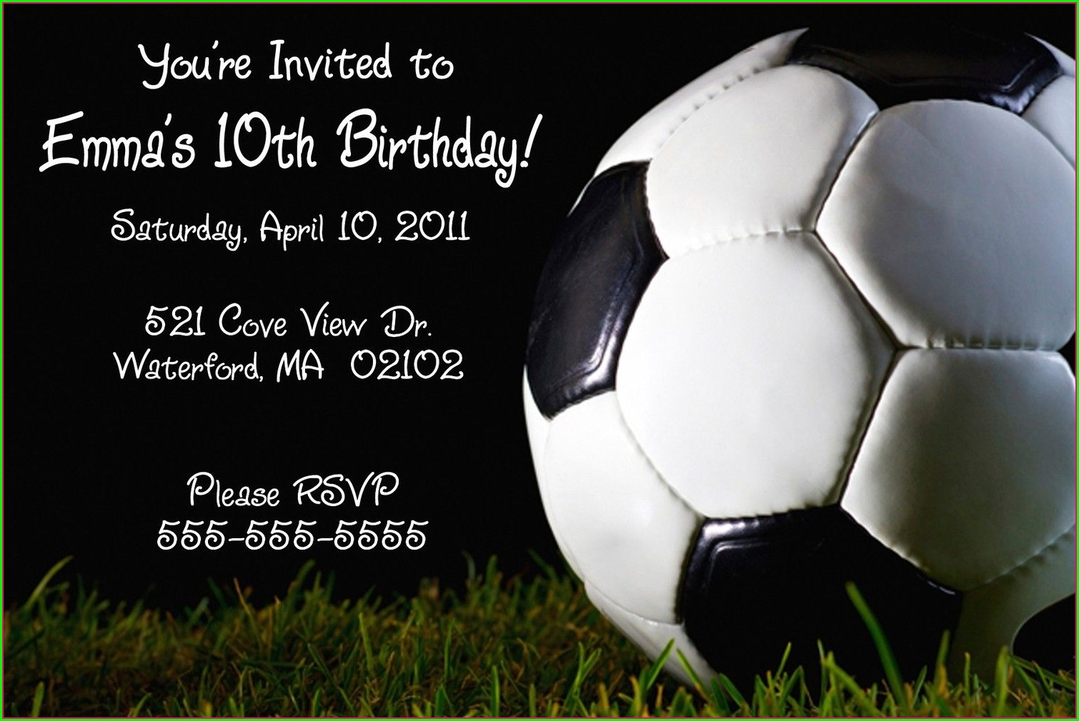 Soccer Birthday Invitations Printable