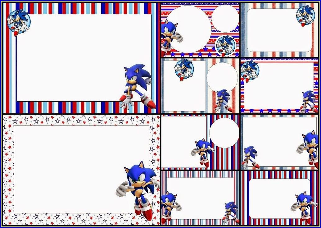 Sonic Birthday Invitations Free