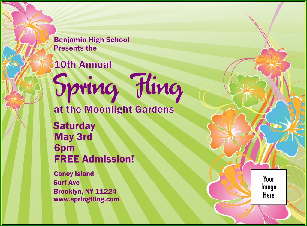 Spring Fling Invitation Templates