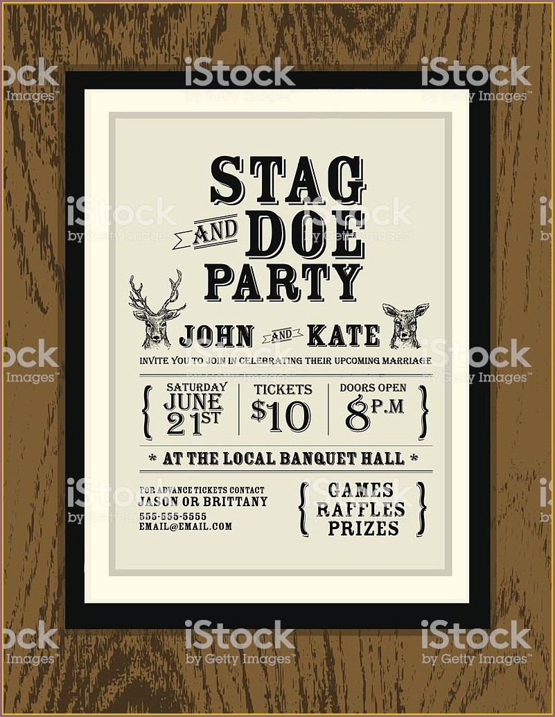 Stag And Doe Invitation Templates