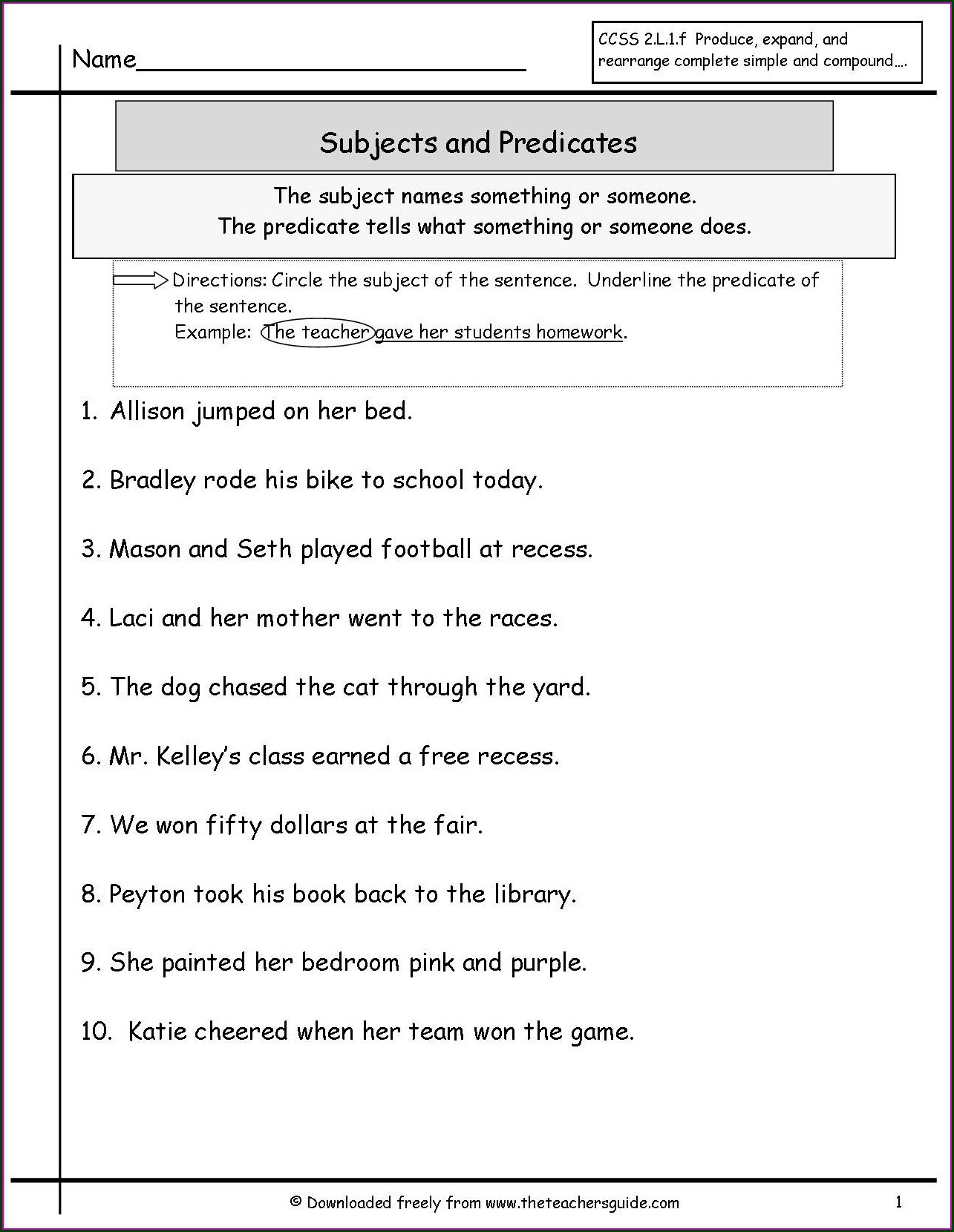 Subject Verb Agreement Worksheet For Class 3