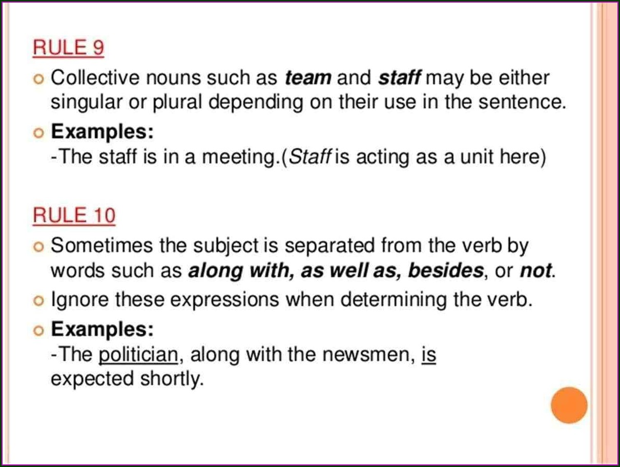 Subject Verb Agreement Worksheet For Class 7