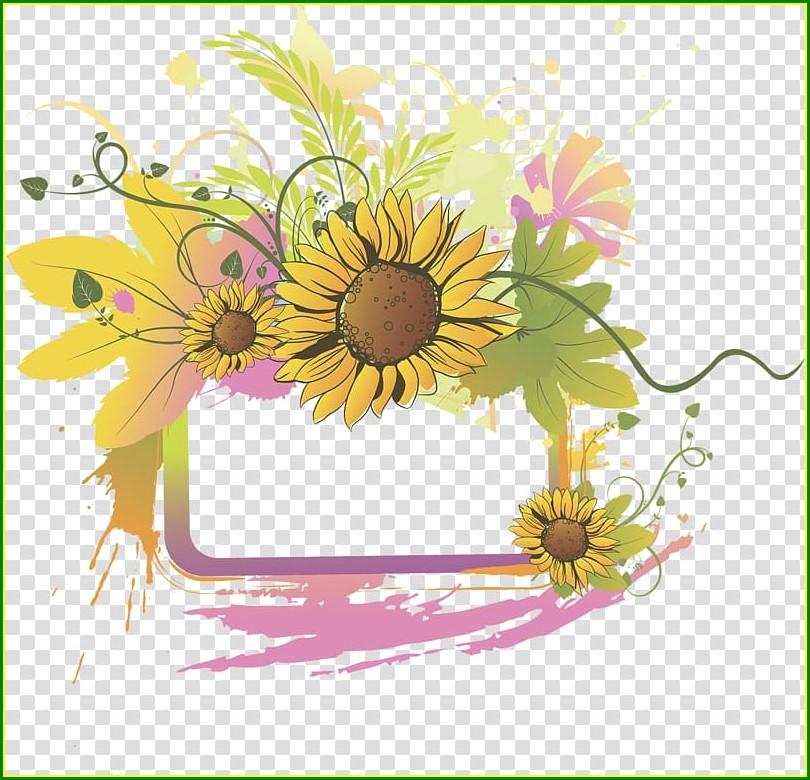Sunflower Wedding Invitation Background
