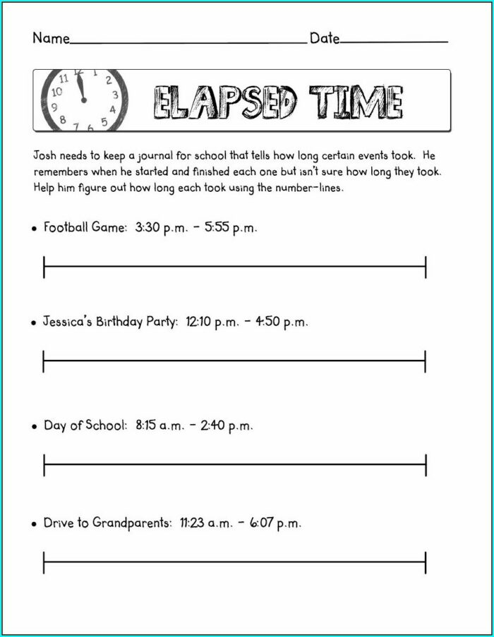Super Teacher Worksheets Elapsed Time Answer Key