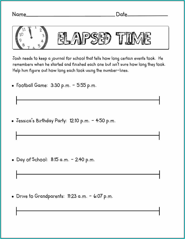 Super Teacher Worksheets Elapsed Time Answer Key