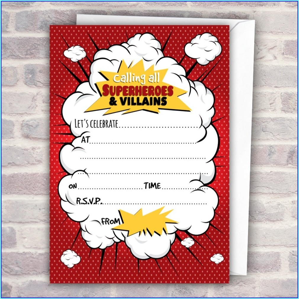 Superhero And Villain Invitations
