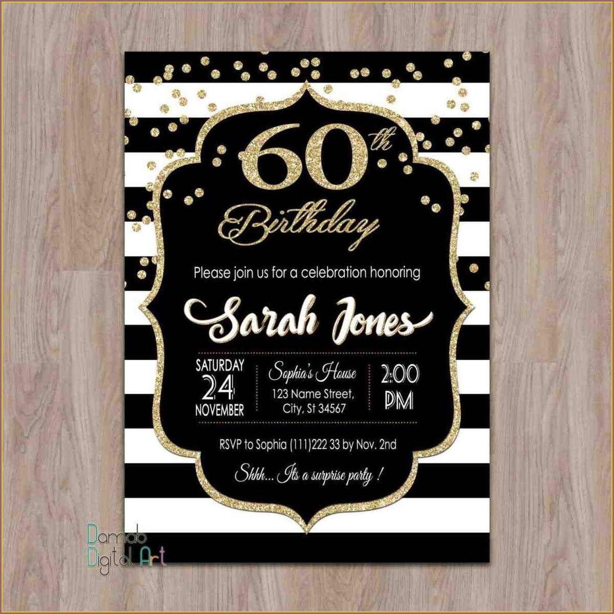 Surprise 21st Birthday Invitations For Him
