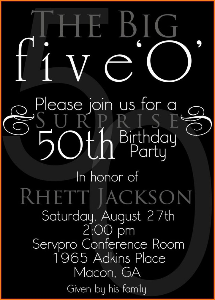 Surprise 50th Birthday Invitations