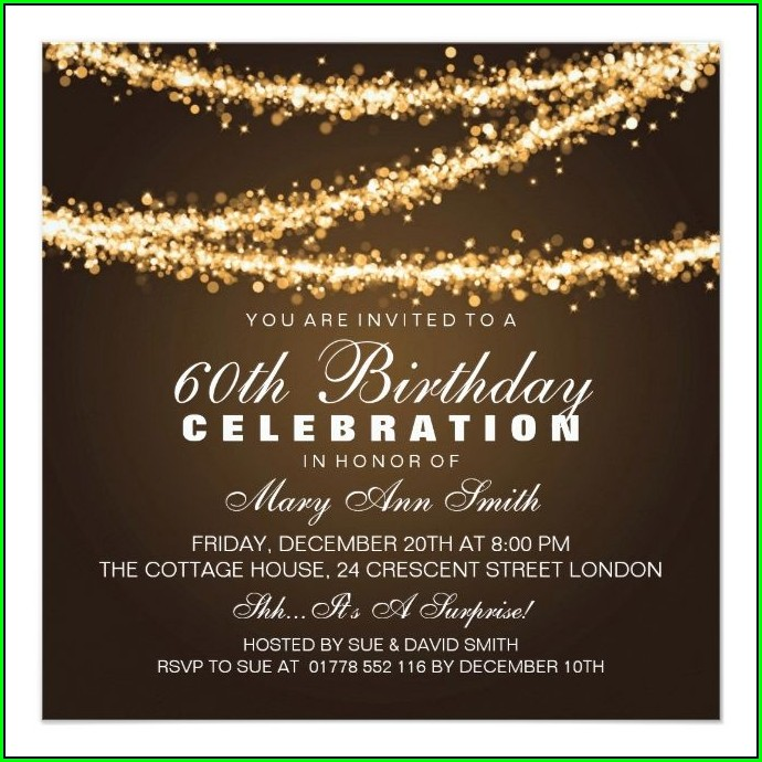 Surprise 60th Birthday Invitations Uk