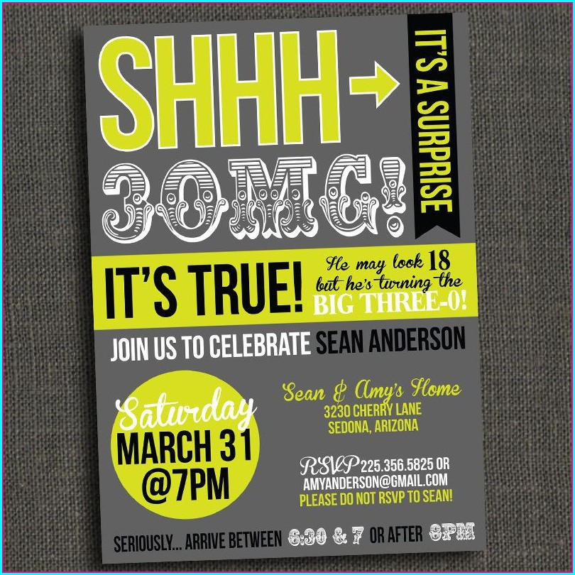Surprise Birthday Invitations For Adults