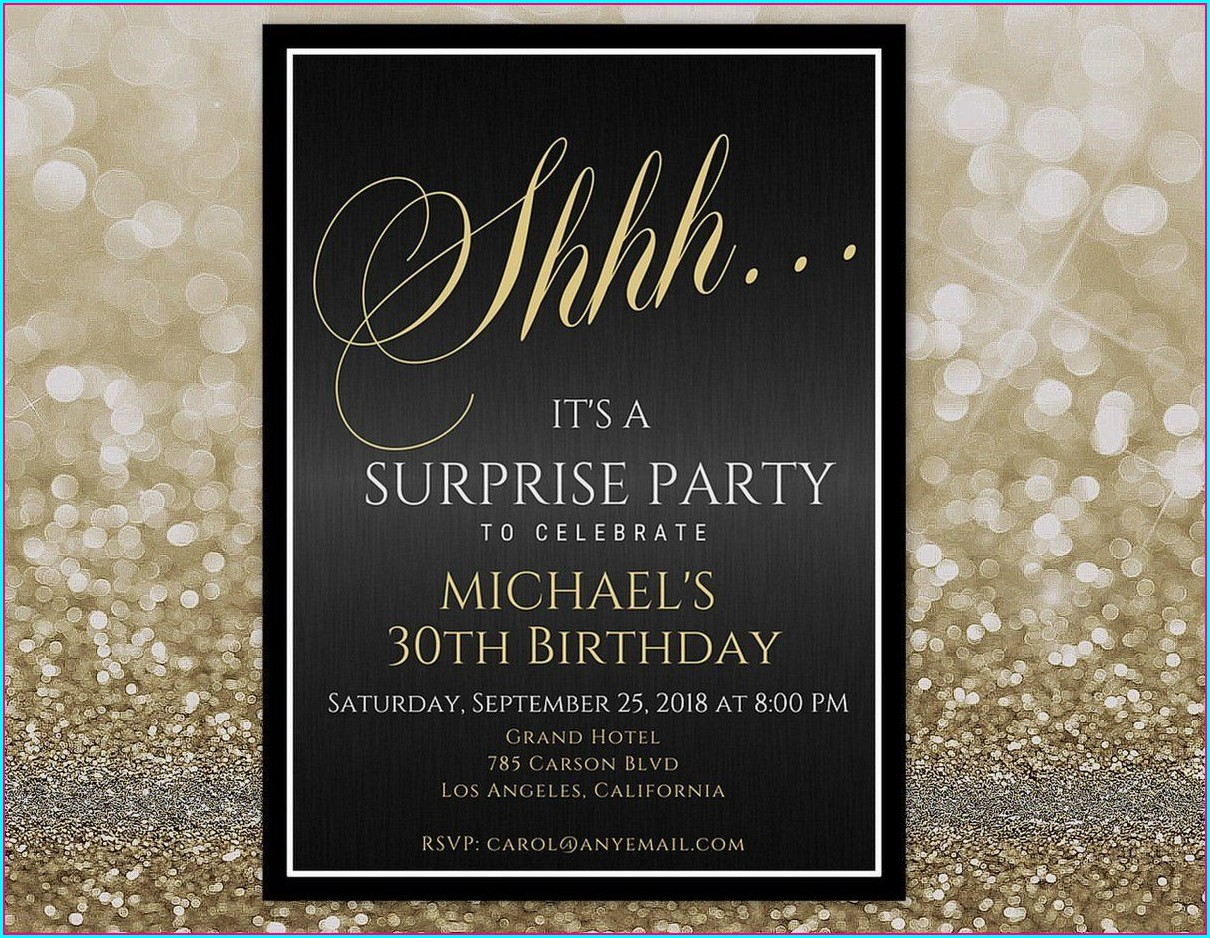 Surprise Birthday Invitations For Him