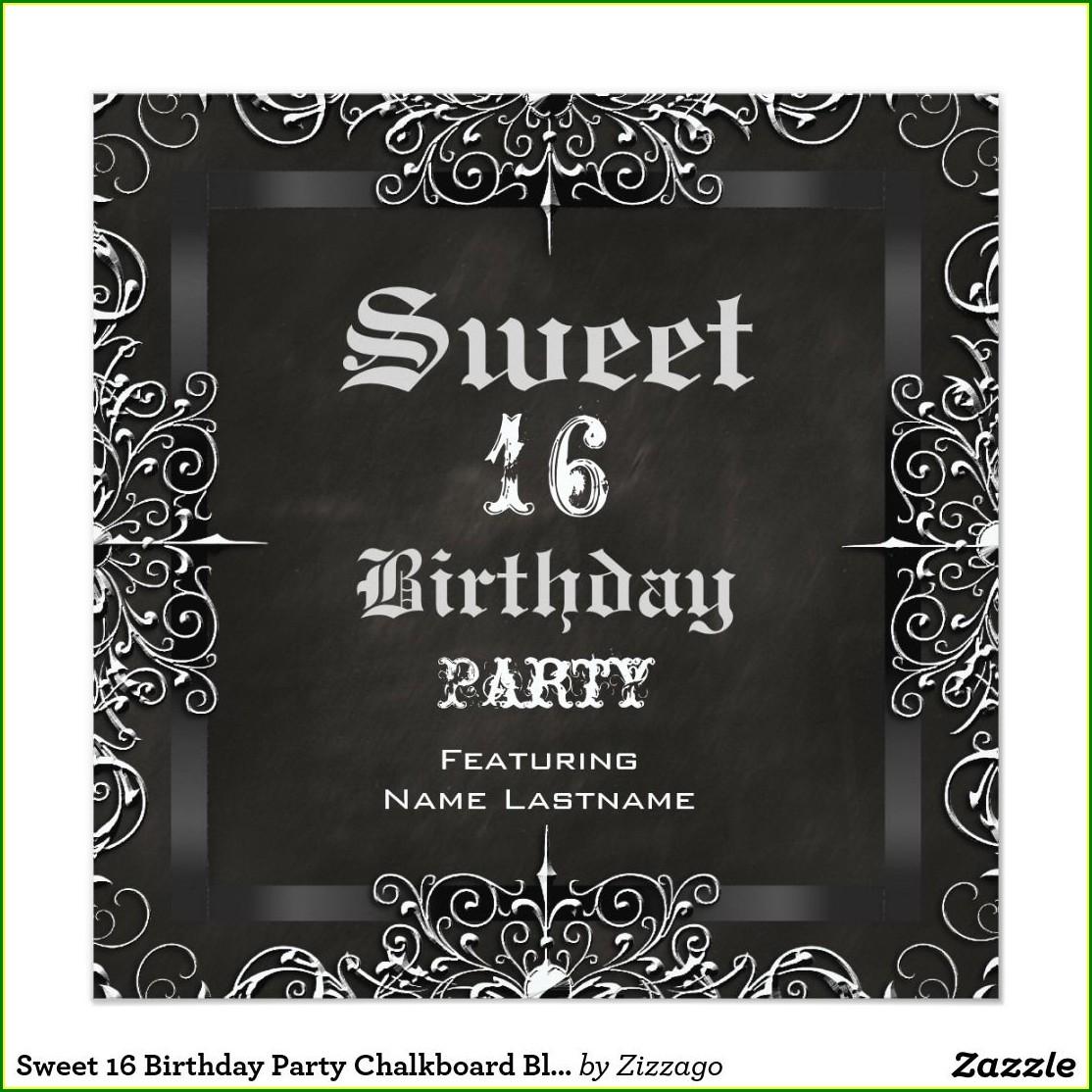 Sweet 16 Birthday Invitation Ideas