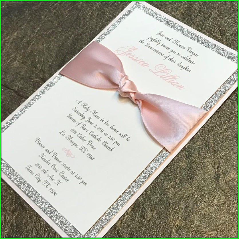 Sweet 16 Invitations Pink And Gold