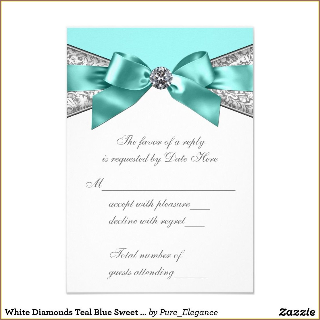Sweet 16 Invitations With Rsvp Cards