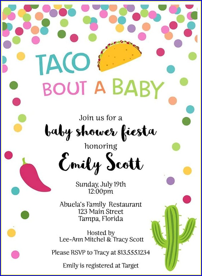 Taco Bout A Baby Invitation Template Free
