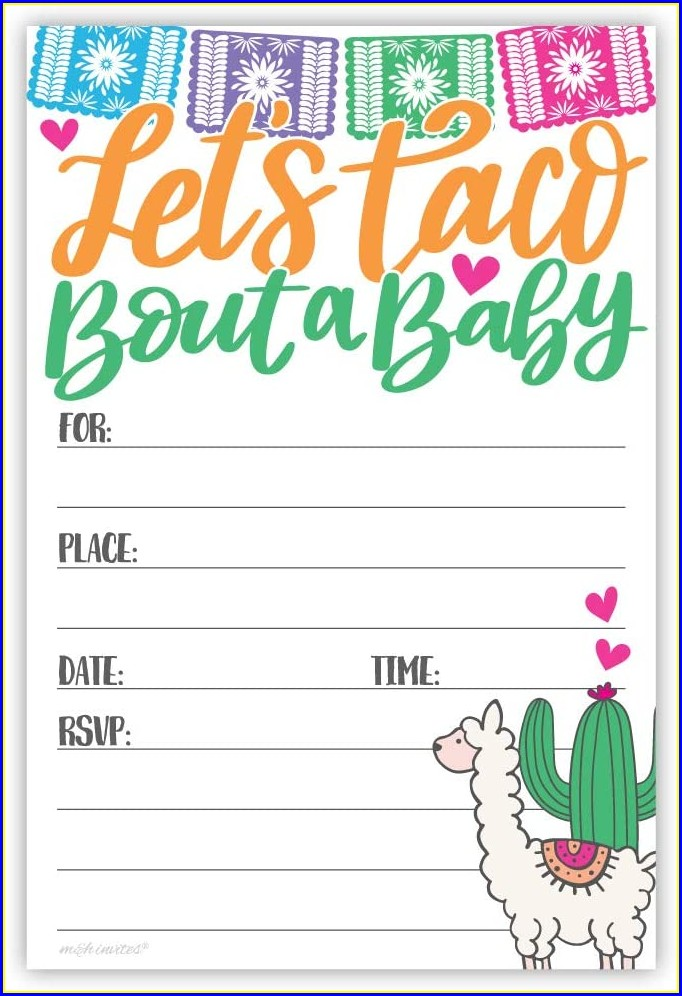 Taco Bout A Baby Invitations