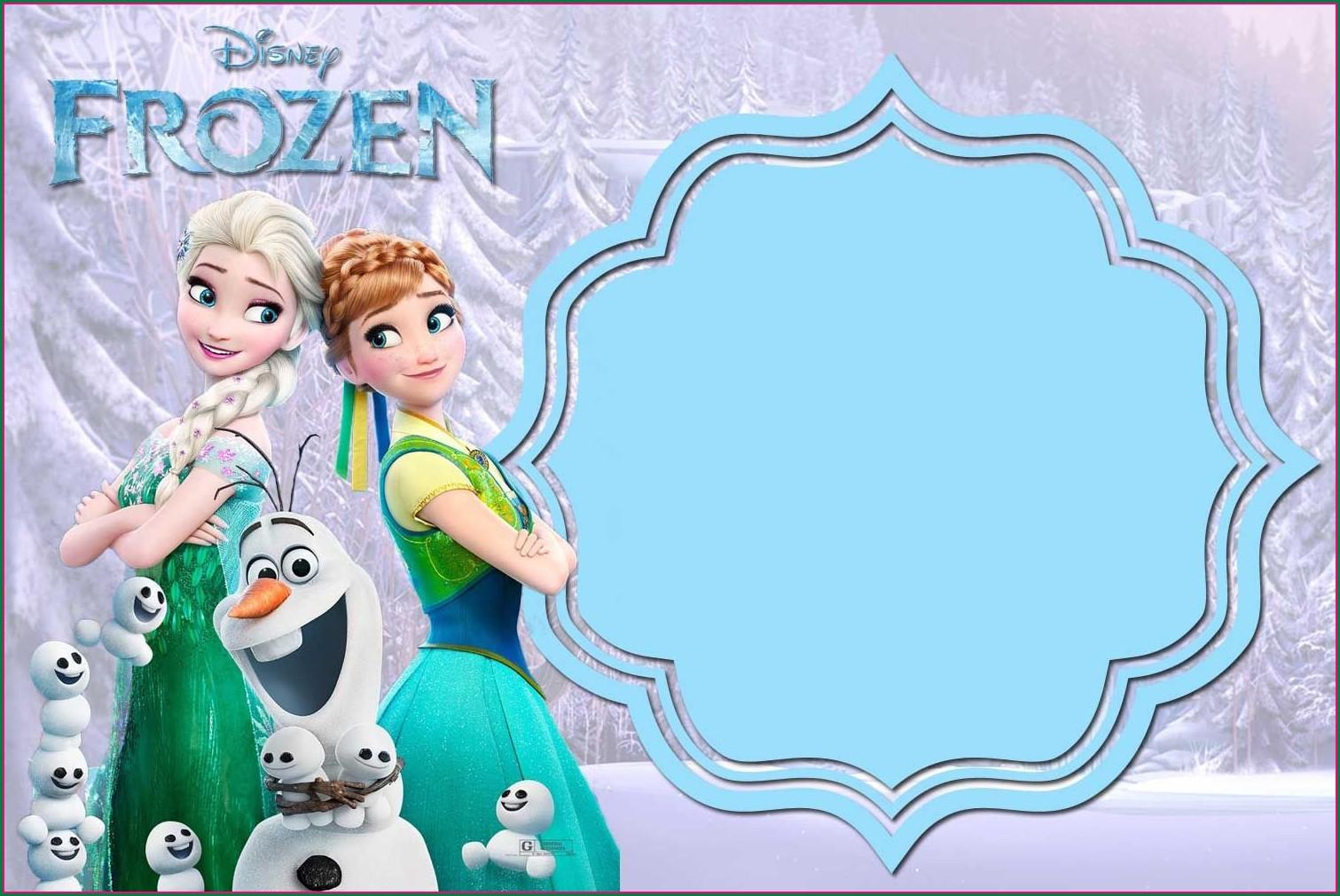 Tarpaulin Design Printable Blank Frozen Invitation Template
