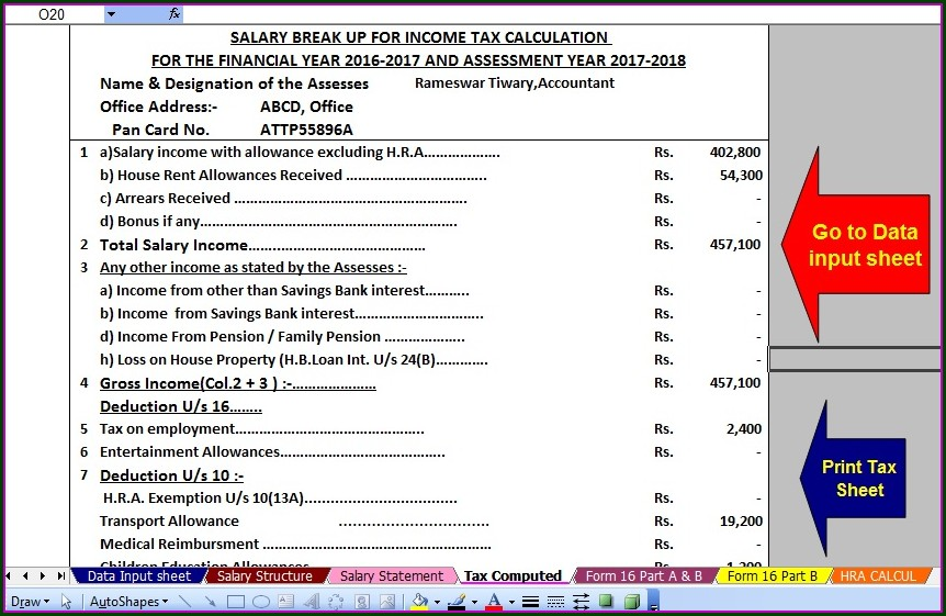 Tax Computation Worksheet 2014 15