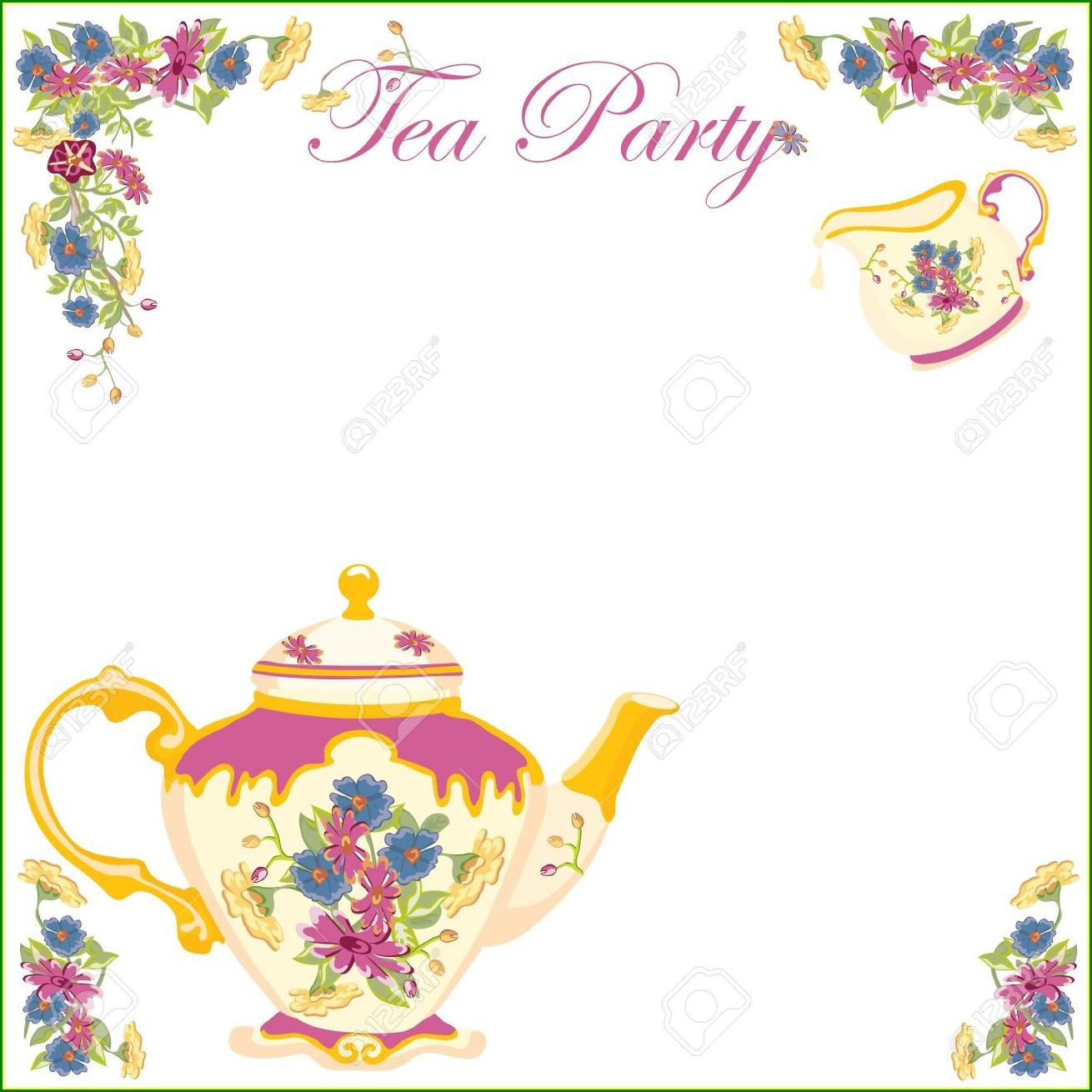 Teacup Invitation Template Free