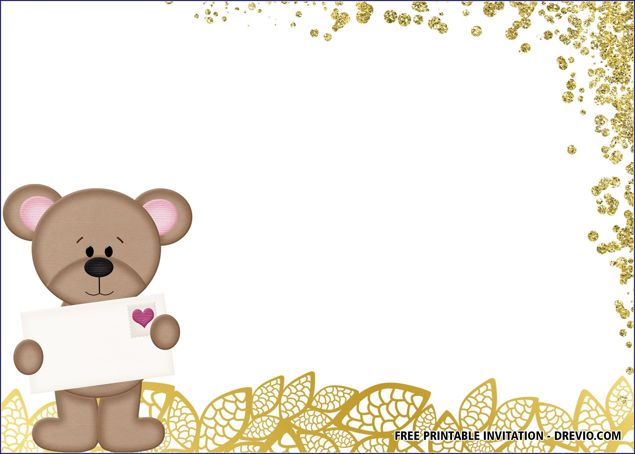 Teddy Bear Birthday Invitations Printable