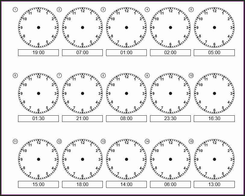 Telling Time Worksheet For Grade 2