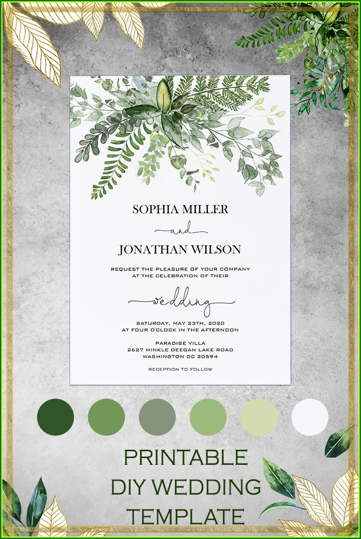 Template Enchanted Forest Invitation Background