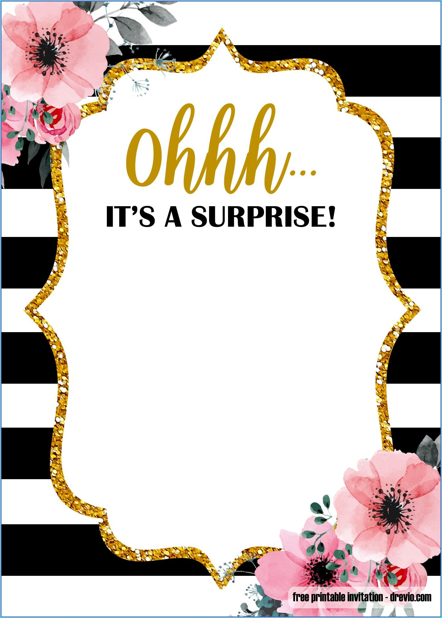 Templates Free Downloadable Surprise Birthday Invitations