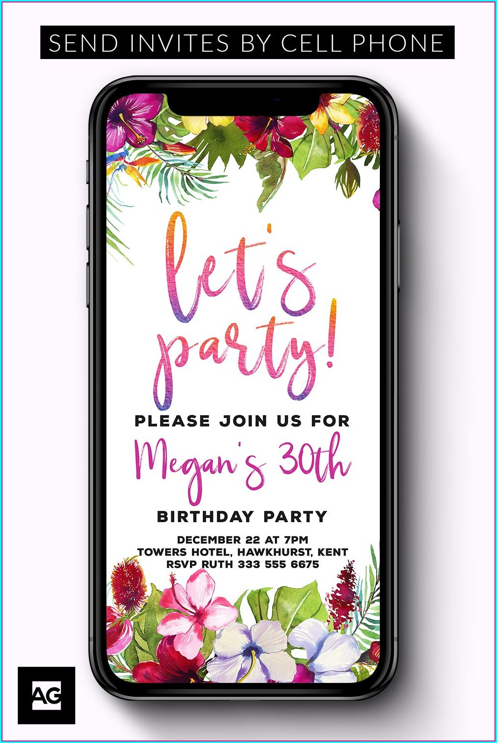 Text Message Birthday Invitation Sms