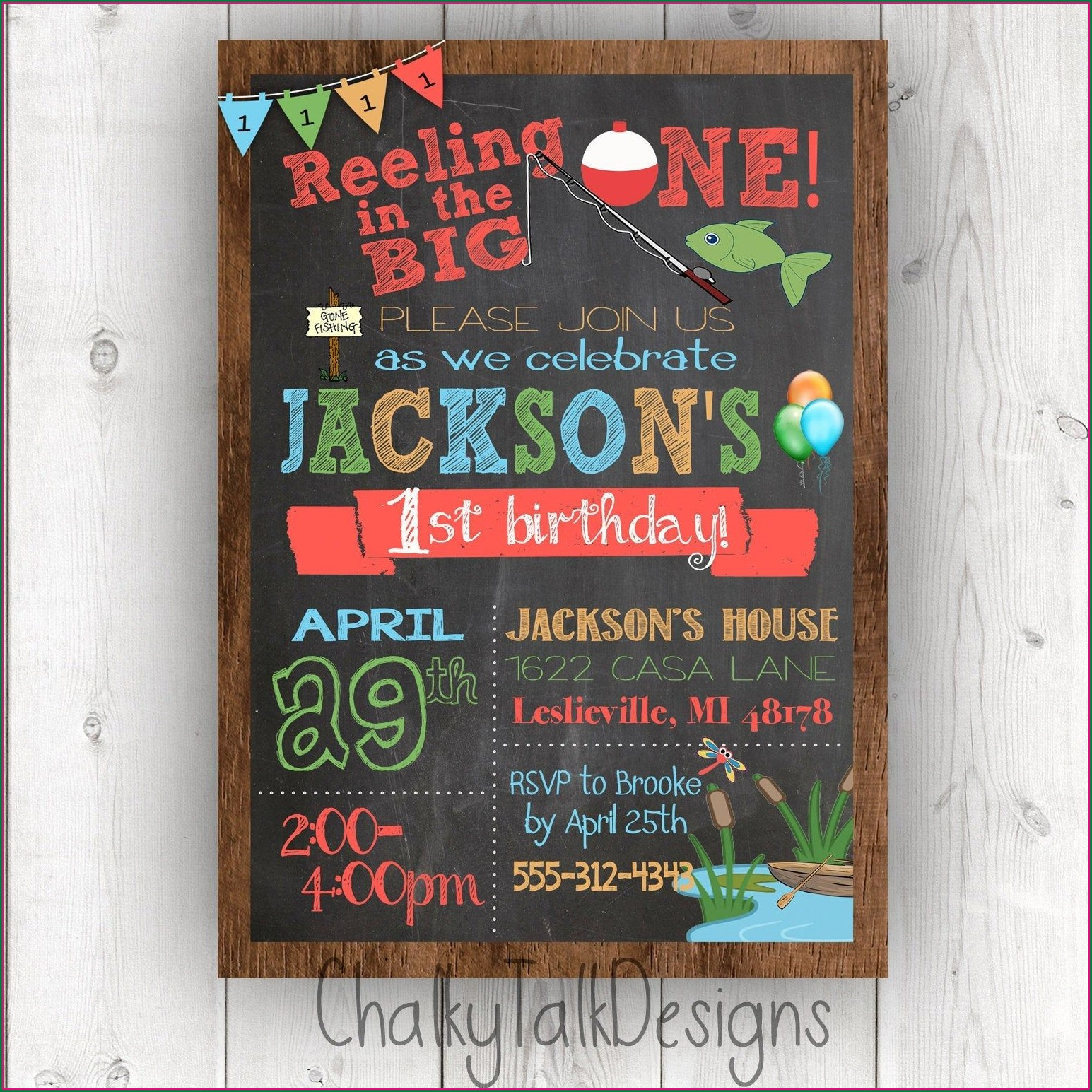The Big One Birthday Invitations