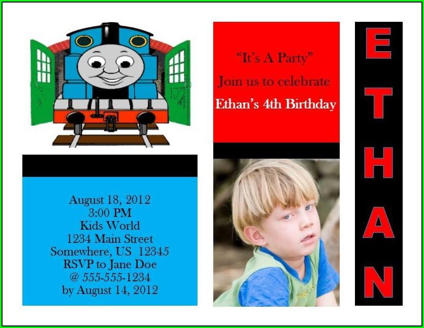 Thomas The Train Birthday Invitations Online