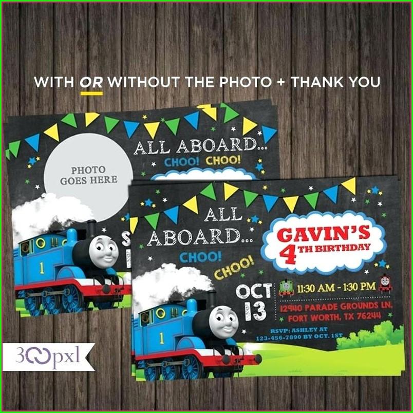 Thomas Train Birthday Invitation Template