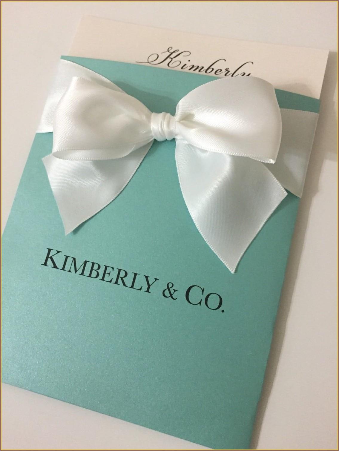 Tiffany And Co Quinceanera Invitations