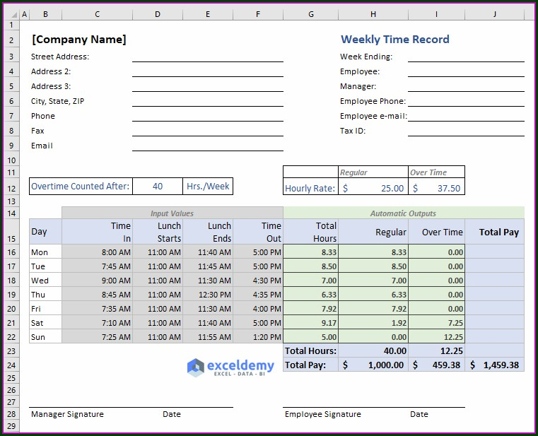 Time Calculation Excel Vba
