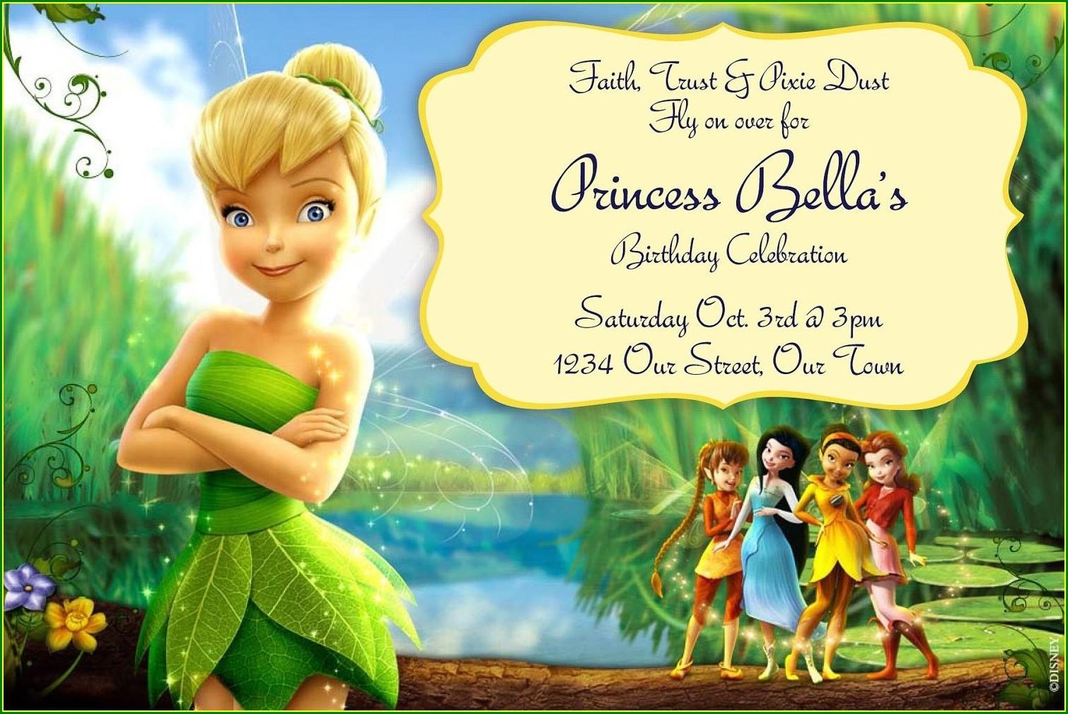 Tinkerbell Invitations Templates Free