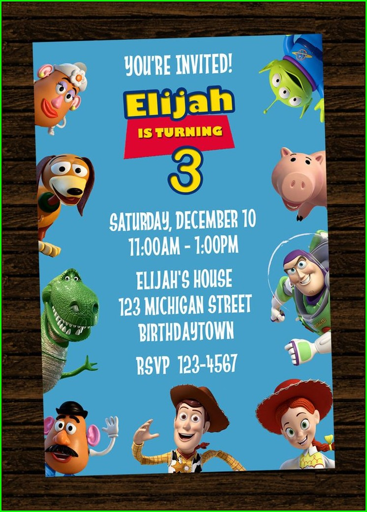 Toy Story Invitations Online Free