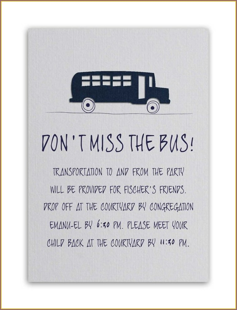 Transportation Wording For Wedding Invitations