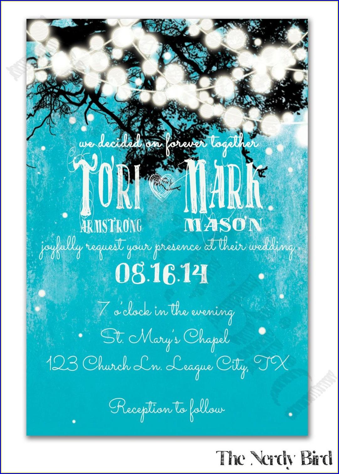 Turquoise Wedding Invitations Background