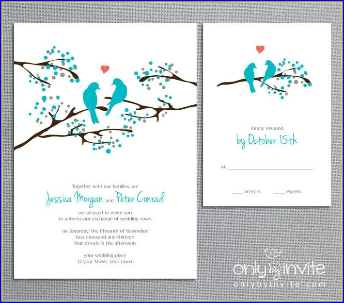 Turquoise Wedding Invitations Kits