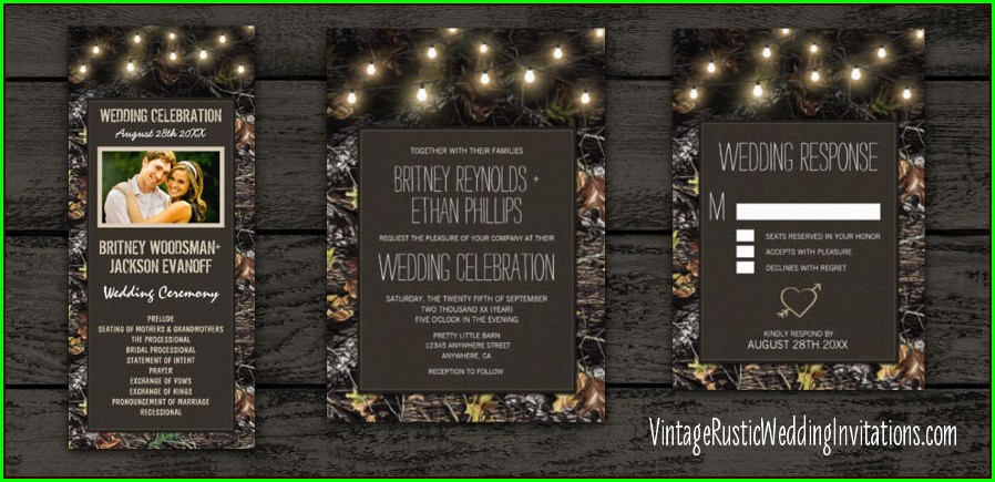 Twinkle Lights Wedding Invitations
