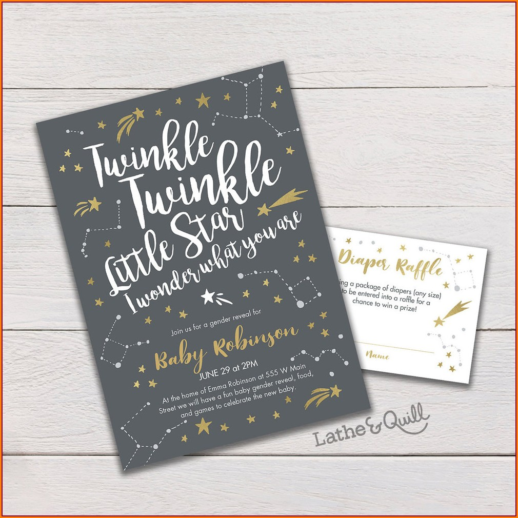 Twinkle Twinkle Little Star Gender Reveal Invitations Free Download