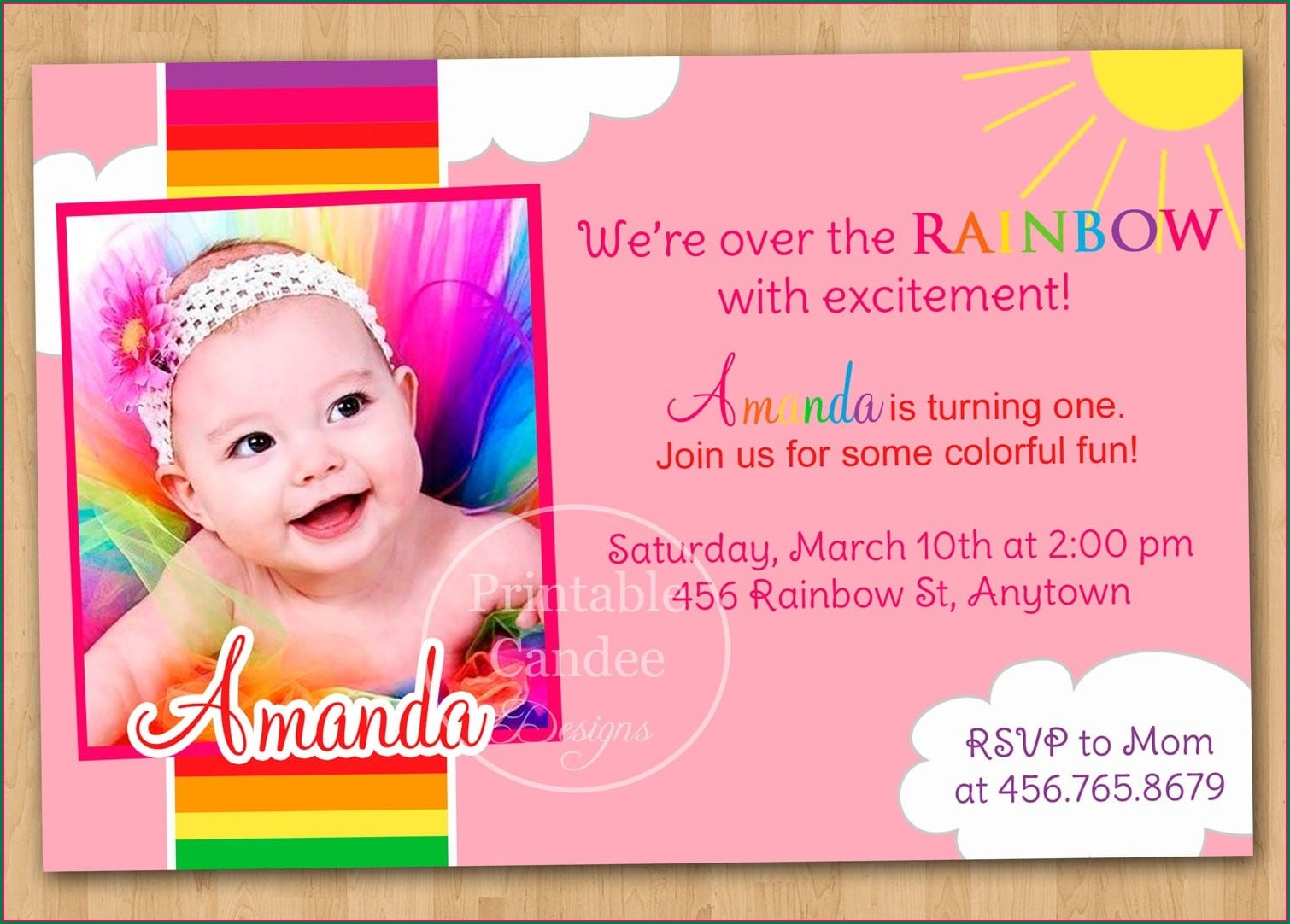 Twins First Birthday Invitation Templates