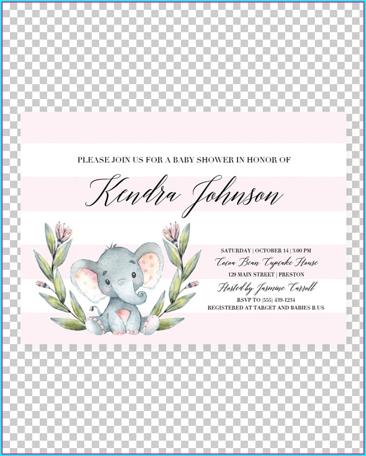 Unicorn Invitation Template Png