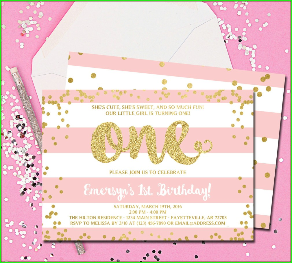 Unique 1st Birthday Invitation Cards