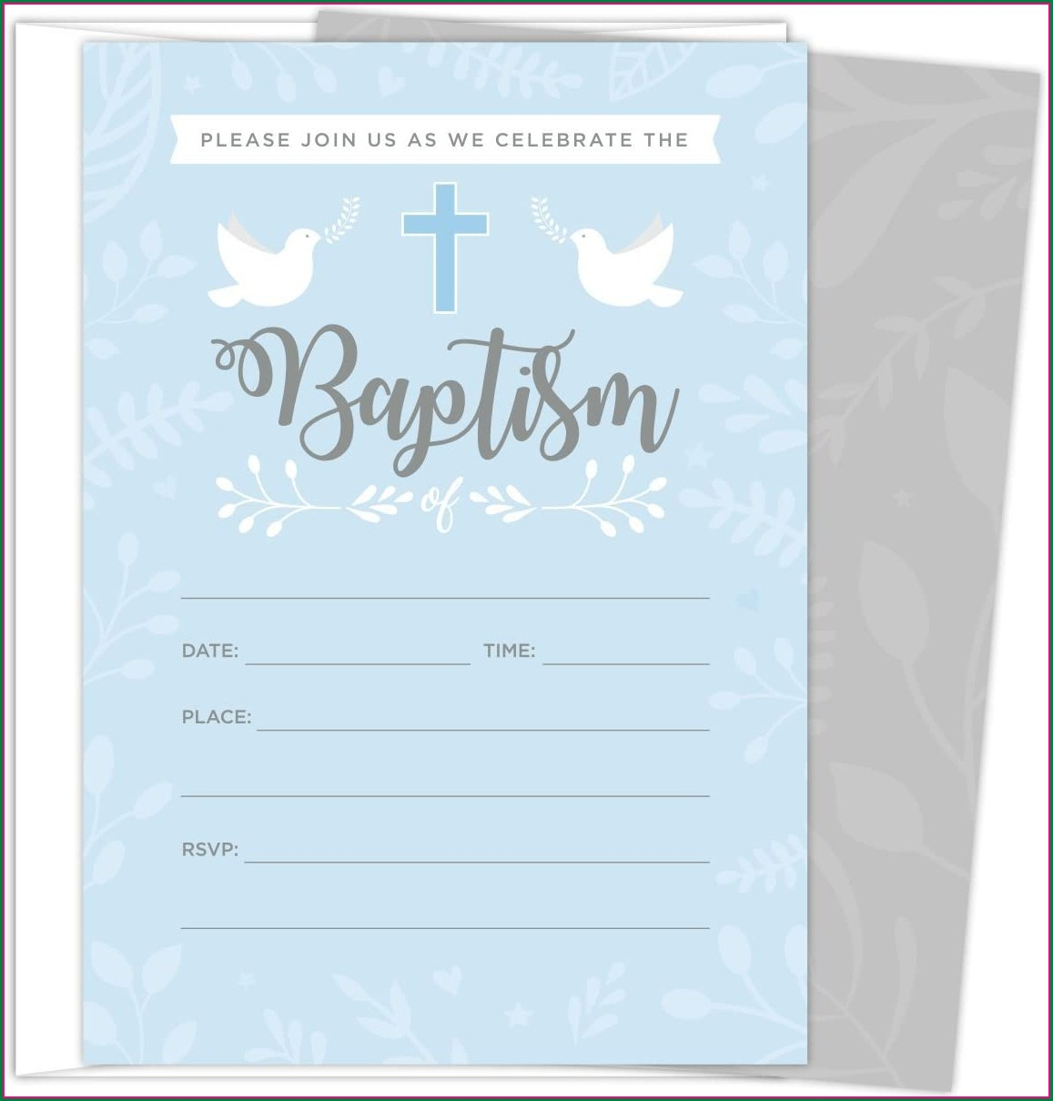 Unique Baptismal Invitation For Baby Boy