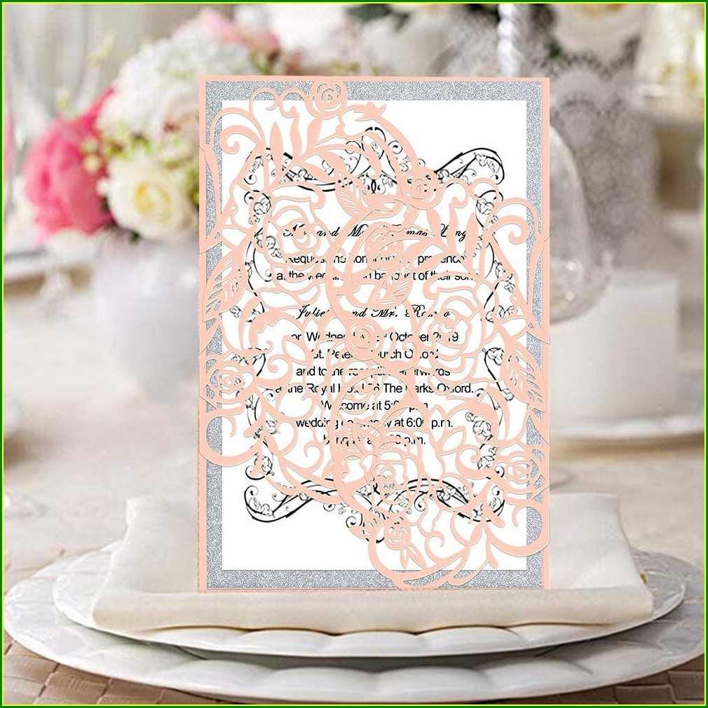 Unique Blank Background Wedding Invitation Card Design