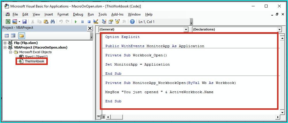 Vba Set Current Workbook To Variable